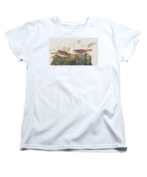 Fox Sparrow Women's T-Shirt (Standard Cut) by John James Audubon