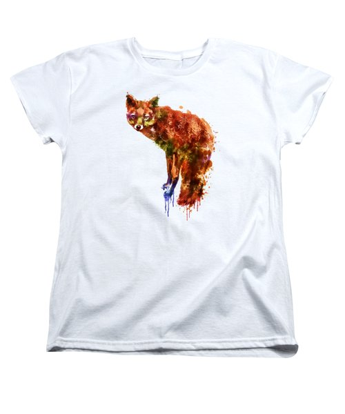 Foxy Lady Watercolor Women's T-Shirt (Standard Cut) by Marian Voicu
