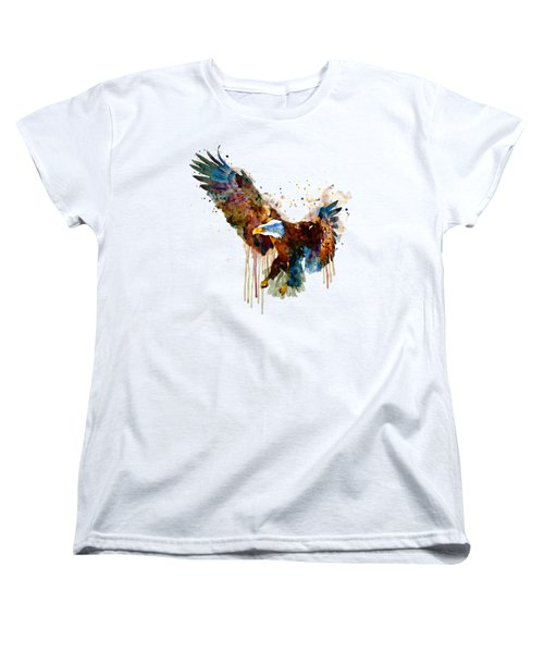 Free And Deadly Eagle Women's T-Shirt (Standard Cut) by Marian Voicu