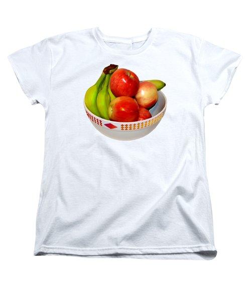Fruit Bowl Still Life Women's T-Shirt (Standard Cut) by William Galloway