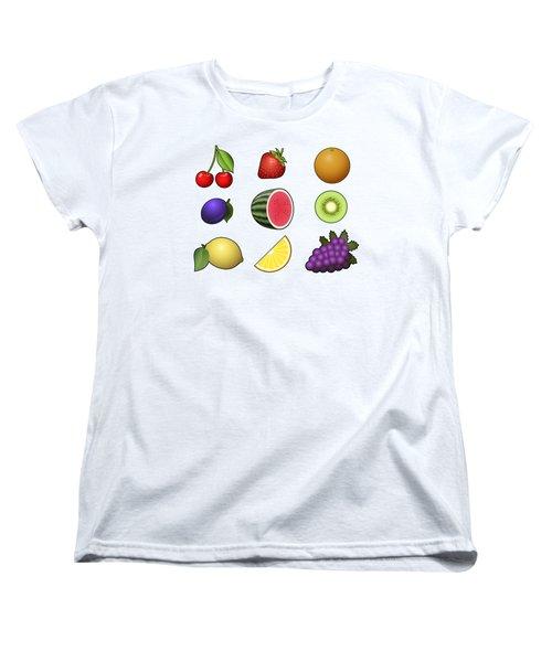 Fruits Collection Women's T-Shirt (Standard Cut) by Miroslav Nemecek