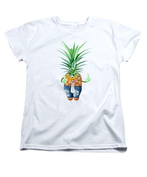 Fun Pineapple  Women's T-Shirt (Standard Cut) by Elena Nikolaeva