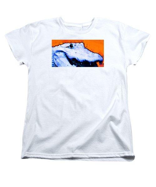Gator Art - Swampy Women's T-Shirt (Standard Cut) by Sharon Cummings