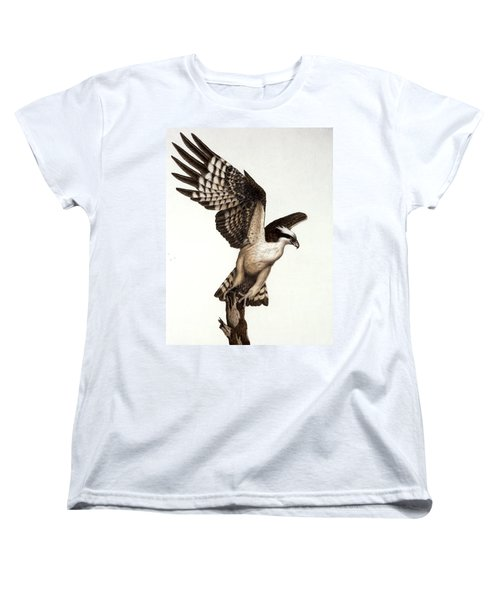 Going Fishin' Osprey Women's T-Shirt (Standard Cut) by Pat Erickson