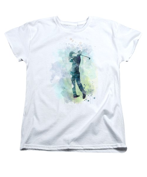 Golf Player  Women's T-Shirt (Standard Cut) by Marlene Watson