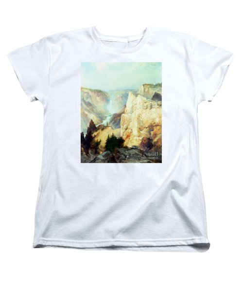 Grand Canyon Of The Yellowstone Park Women's T-Shirt (Standard Cut) by Thomas Moran