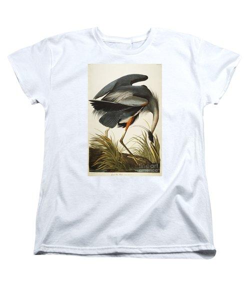 Great Blue Heron Women's T-Shirt (Standard Cut) by John James Audubon