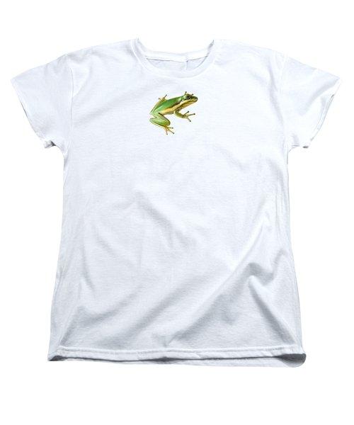 Green Tree Frog Women's T-Shirt (Standard Cut) by Sarah Batalka