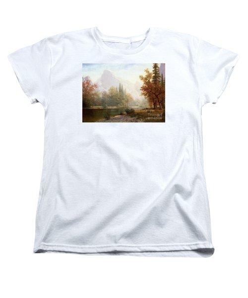 Half Dome Yosemite Women's T-Shirt (Standard Cut) by Albert Bierstadt