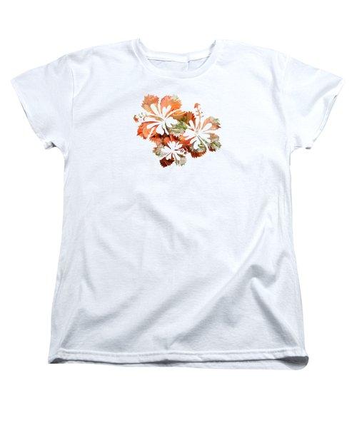 Hibiscus Flowers Women's T-Shirt (Standard Cut) by Art Spectrum