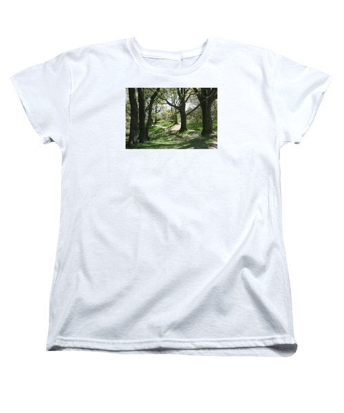 Women's T-Shirt (Standard Cut) featuring the photograph Hill 60 Cratered Landscape by Travel Pics