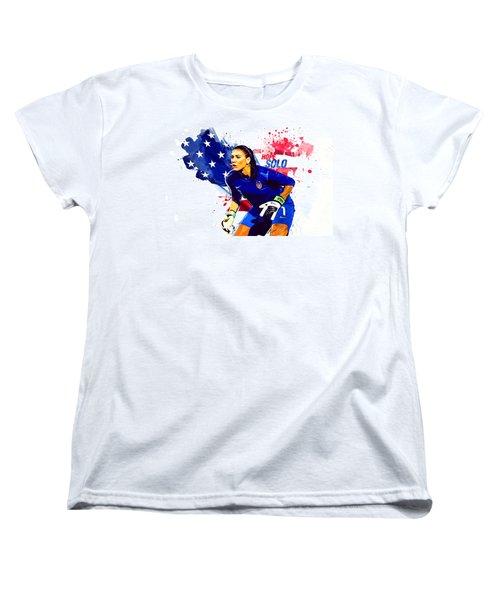 Hope Solo Women's T-Shirt (Standard Cut) by Semih Yurdabak