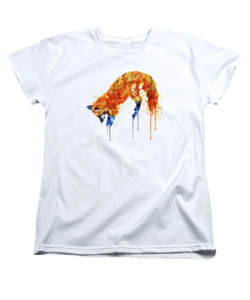 Hunting Fox  Women's T-Shirt (Standard Cut) by Marian Voicu