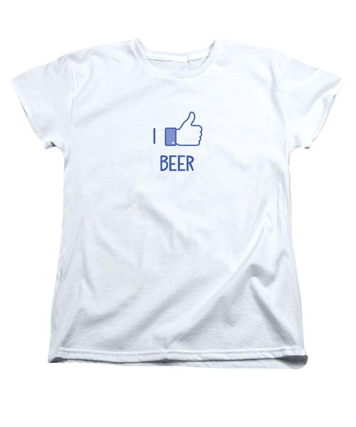 I Like Beer Women's T-Shirt (Standard Cut) by Citronella Design