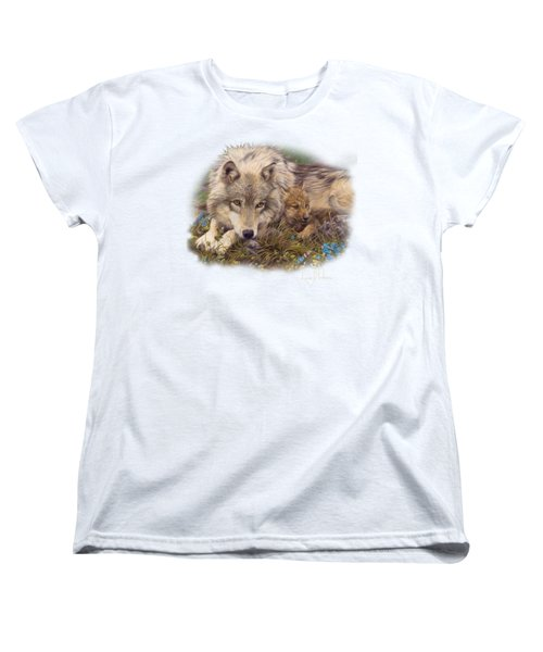 In A Safe Place Women's T-Shirt (Standard Cut) by Lucie Bilodeau