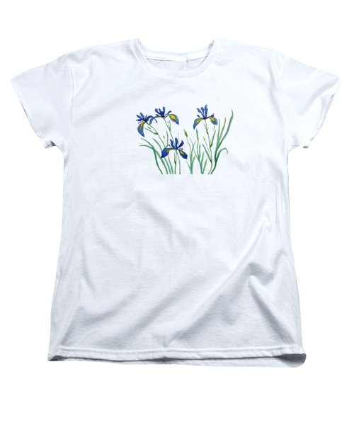 Iris In Japanese Style Women's T-Shirt (Standard Cut) by Color Color