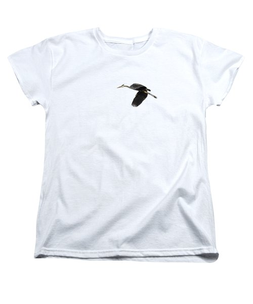 Isolated Great Blue Heron 2015-1 Women's T-Shirt (Standard Cut) by Thomas Young
