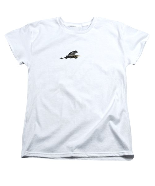 Isolated Great Blue Heron 2015-2 Women's T-Shirt (Standard Cut) by Thomas Young