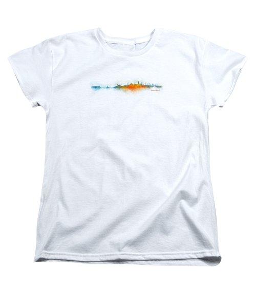 Istanbul City Skyline Hq V03 Women's T-Shirt (Standard Cut) by HQ Photo