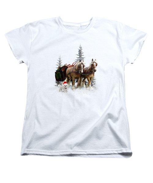 A Christmas Wish Women's T-Shirt (Standard Cut) by Shanina Conway