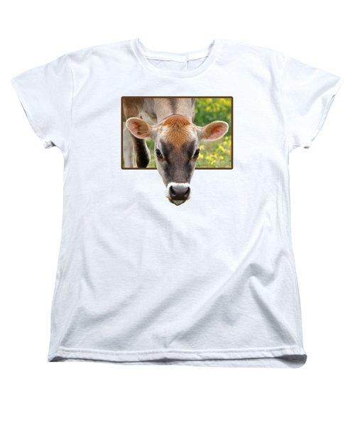Jersey Fields Of Gold Women's T-Shirt (Standard Cut) by Gill Billington