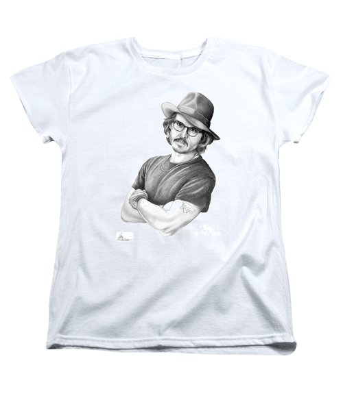 Johnny Depp Women's T-Shirt (Standard Cut) by Murphy Elliott