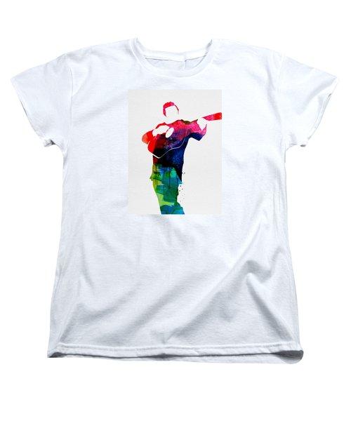 Johnny Watercolor Women's T-Shirt (Standard Cut) by Naxart Studio