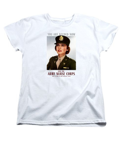Join The Army Nurse Corps Women's T-Shirt (Standard Cut) by War Is Hell Store