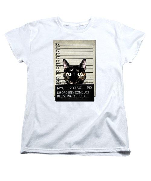 Kitty Mugshot Women's T-Shirt (Standard Cut) by Nicklas Gustafsson