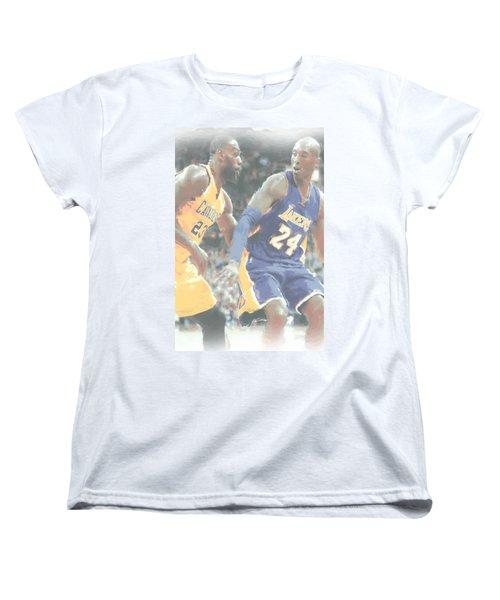 Kobe Bryant Lebron James 2 Women's T-Shirt (Standard Cut) by Joe Hamilton