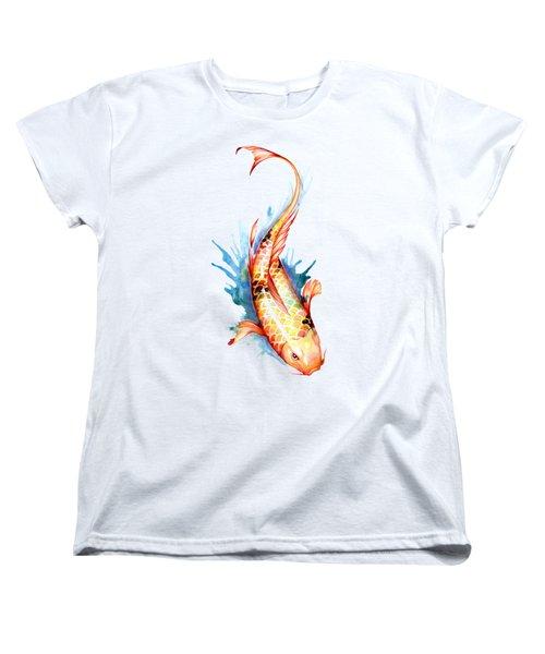 Koi Fish II Women's T-Shirt (Standard Cut) by Sam Nagel