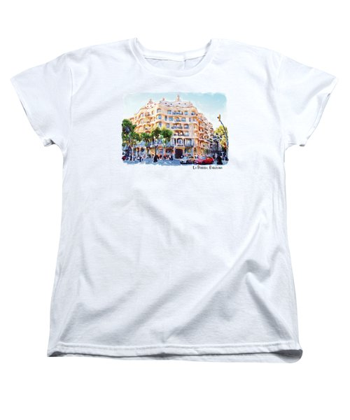 La Pedrera Barcelona Women's T-Shirt (Standard Cut) by Marian Voicu