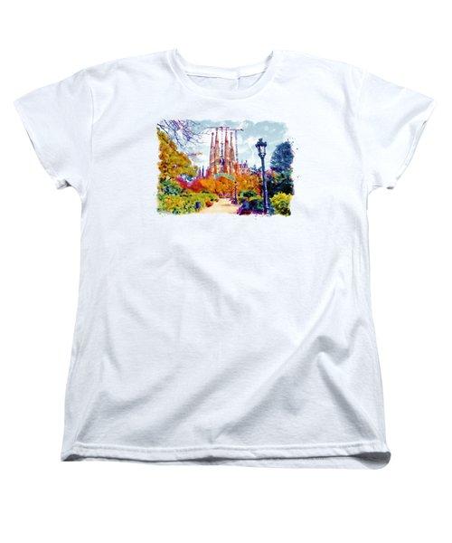 La Sagrada Familia - Park View Women's T-Shirt (Standard Cut) by Marian Voicu