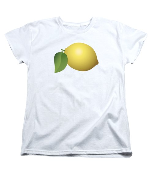 Lemon Fruit Women's T-Shirt (Standard Cut) by Miroslav Nemecek