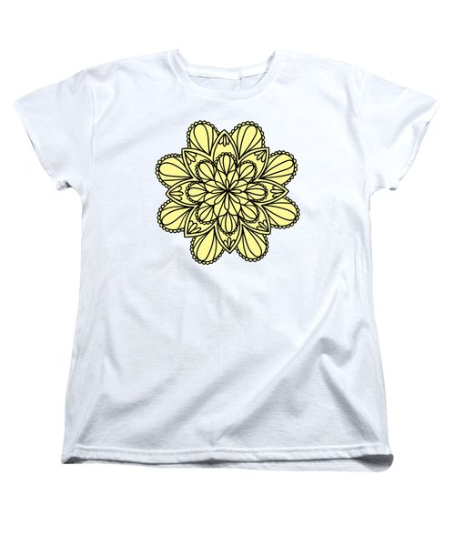 Lemon Lily Mandala Women's T-Shirt (Standard Cut) by Georgiana Romanovna