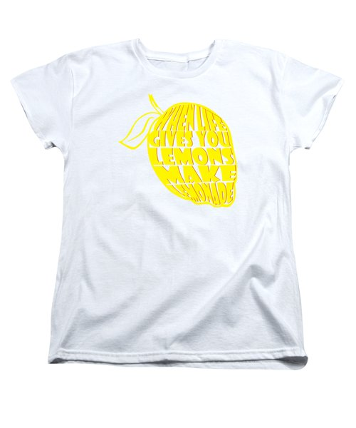 Lemonade Women's T-Shirt (Standard Cut) by Priscilla Wolfe