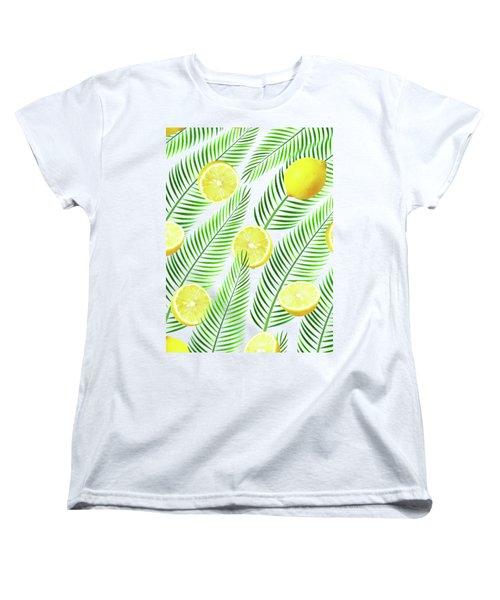 Lemons Women's T-Shirt (Standard Cut) by Uma Gokhale