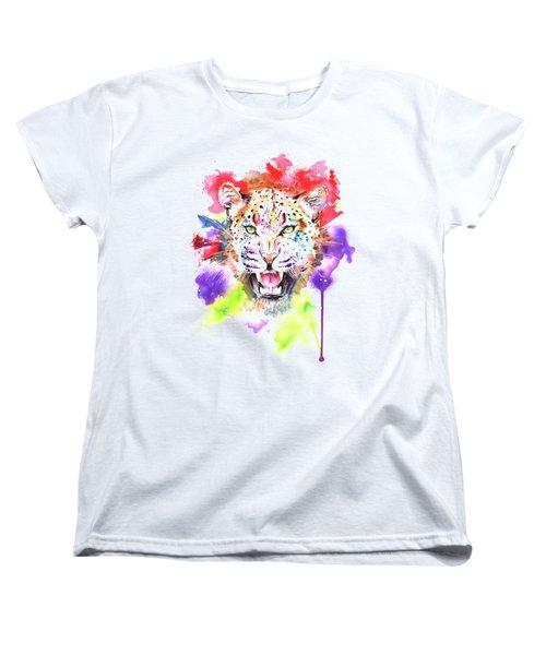Leopard Women's T-Shirt (Standard Cut) by Isabel Salvador