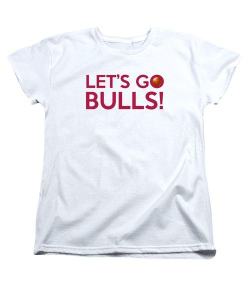 Let's Go Bulls Women's T-Shirt (Standard Cut) by Florian Rodarte
