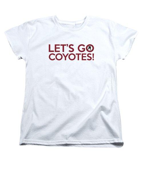 Let's Go Coyotes Women's T-Shirt (Standard Cut) by Florian Rodarte