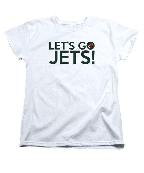 Let's Go Jets Women's T-Shirt (Standard Cut) by Florian Rodarte
