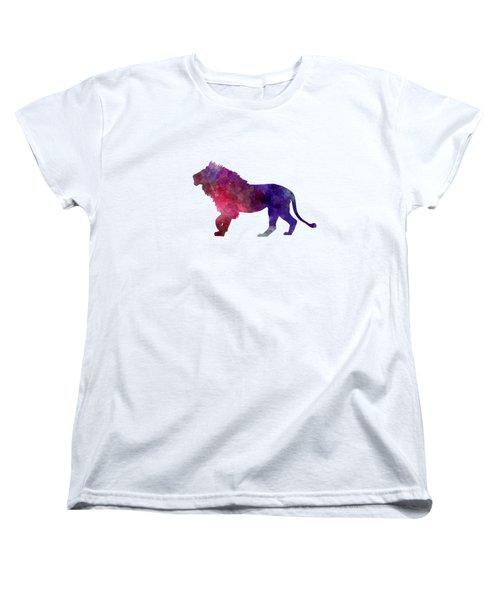 Lion 01 In Watercolor Women's T-Shirt (Standard Cut) by Pablo Romero