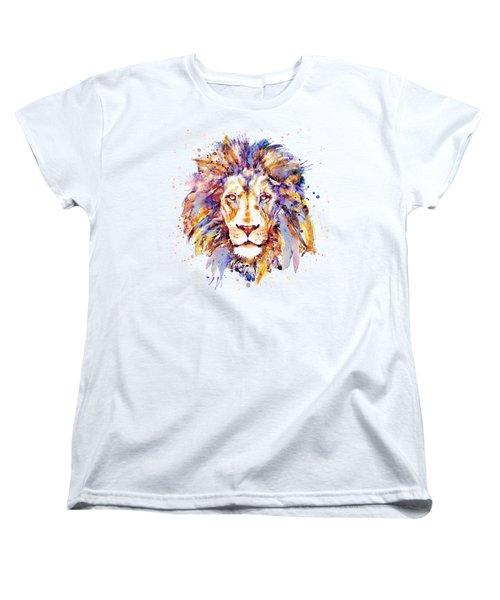 Lion Head Women's T-Shirt (Standard Cut) by Marian Voicu