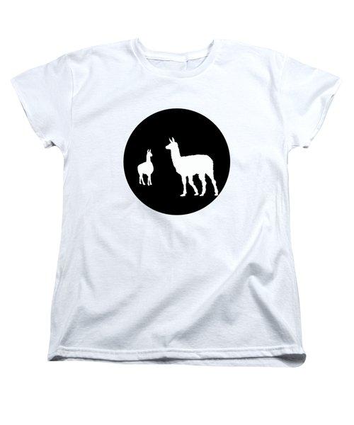 Llamas Women's T-Shirt (Standard Cut) by Mordax Furittus