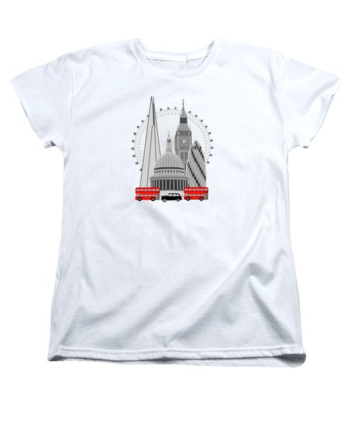 London Scene Women's T-Shirt (Standard Cut) by Imagology Design