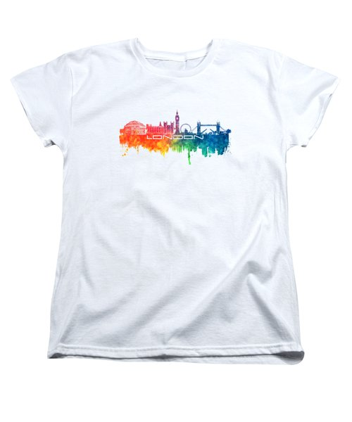 London Skyline City Color Women's T-Shirt (Standard Cut) by Justyna JBJart