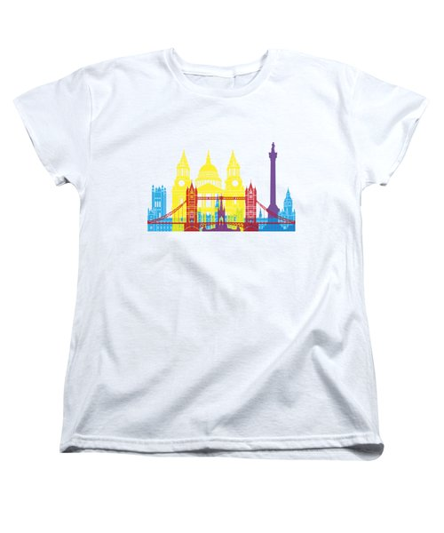 London Skyline Pop Women's T-Shirt (Standard Cut) by Pablo Romero