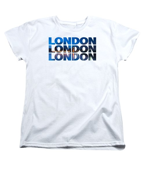 London Text Women's T-Shirt (Standard Cut) by Matt Malloy