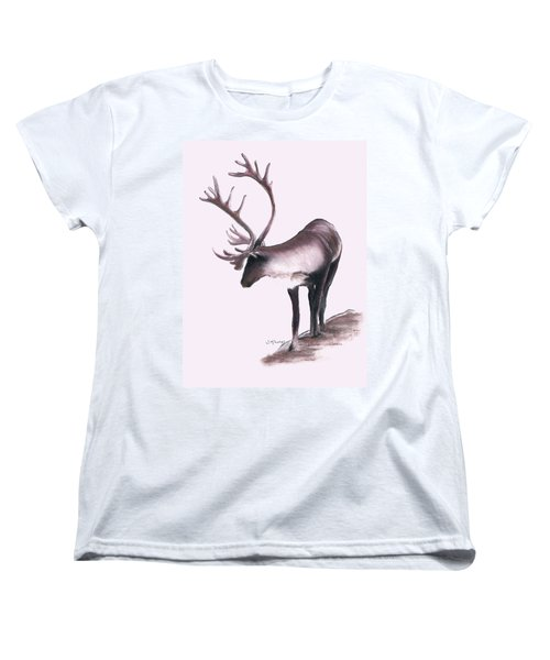 Lone Caribou Women's T-Shirt (Standard Cut) by Jane M Lucas