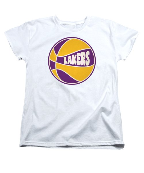Los Angeles Lakers Retro Shirt Women's T-Shirt (Standard Cut) by Joe Hamilton